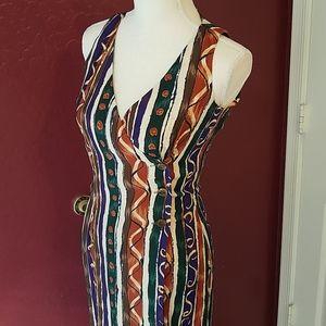 EUC Express Tribal Print Maxi Wrap Dres 3/4